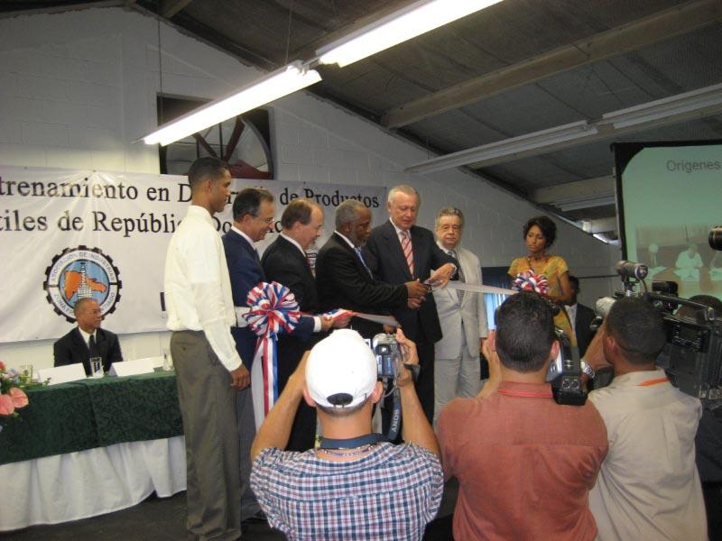 Opening of the Santiago Pre-production Training Center Vice President  Rafael Alburquerque
